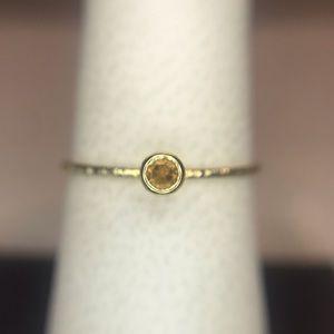NWT. Genuine 14k Gold & Citrine Ring